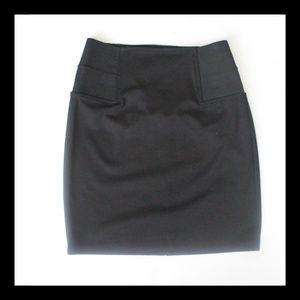 Attention Black Mini Skirt
